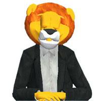 máscara grande y aterradora de cabeza de león 551909004441